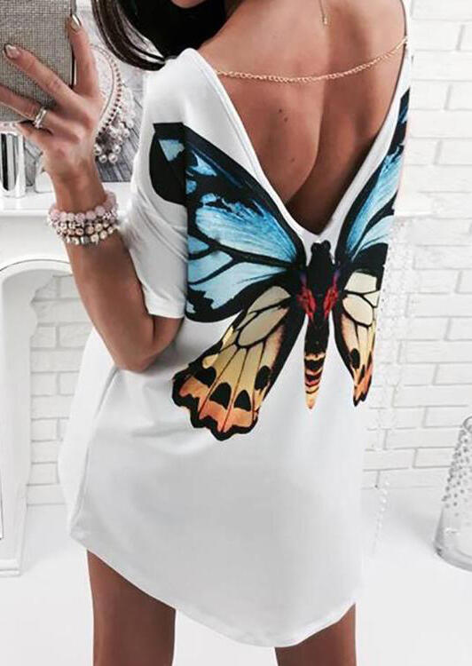 Butterfly_Open_Back_Mini_Dress_without_Necklace_-_White