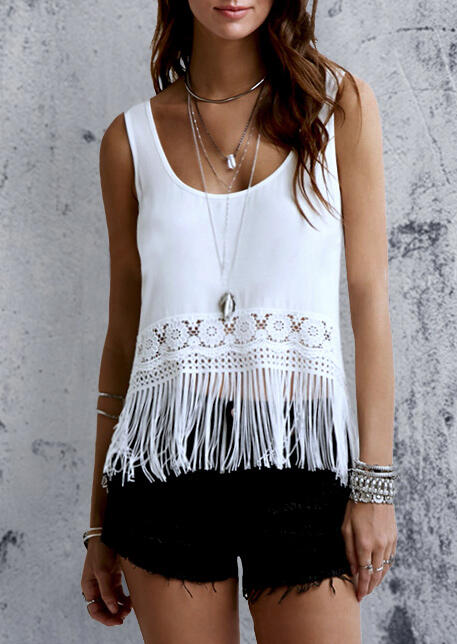 Solid_Floral_Lace_Tassel_Splicing_Tank_without_Necklace_-_White