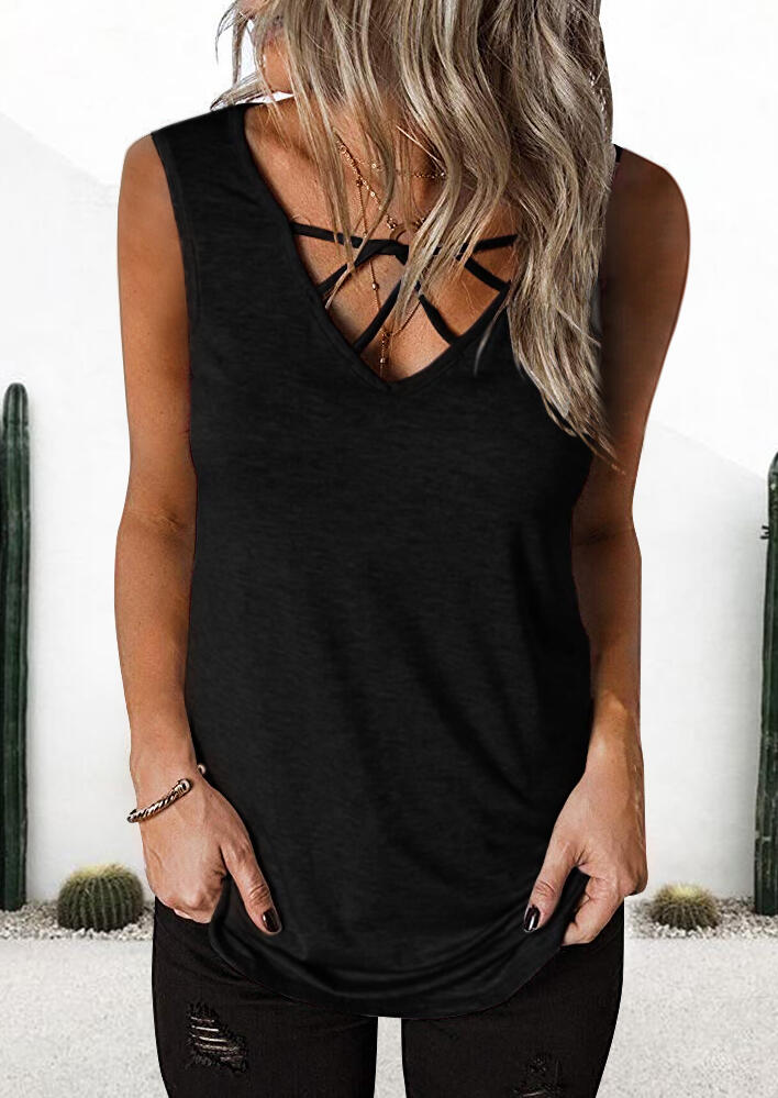 Solid_Cross_Cut_Out_Shirt_without_Necklace_-_Black