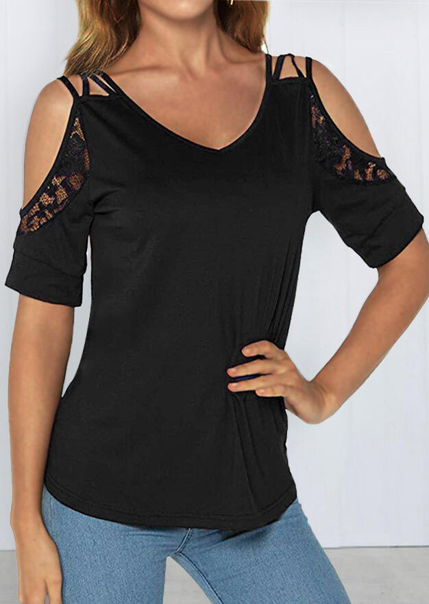Solid_Lace_Splicing_Cross_Cold_Shoulder_Blouse_-_Black