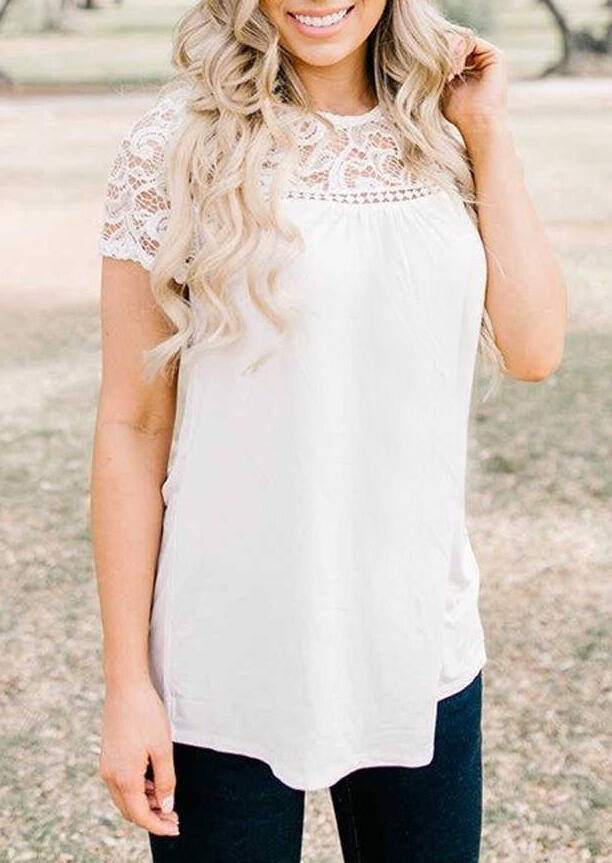 Solid_Lace_Splicing_Hollow_Out_Blouse_-_White