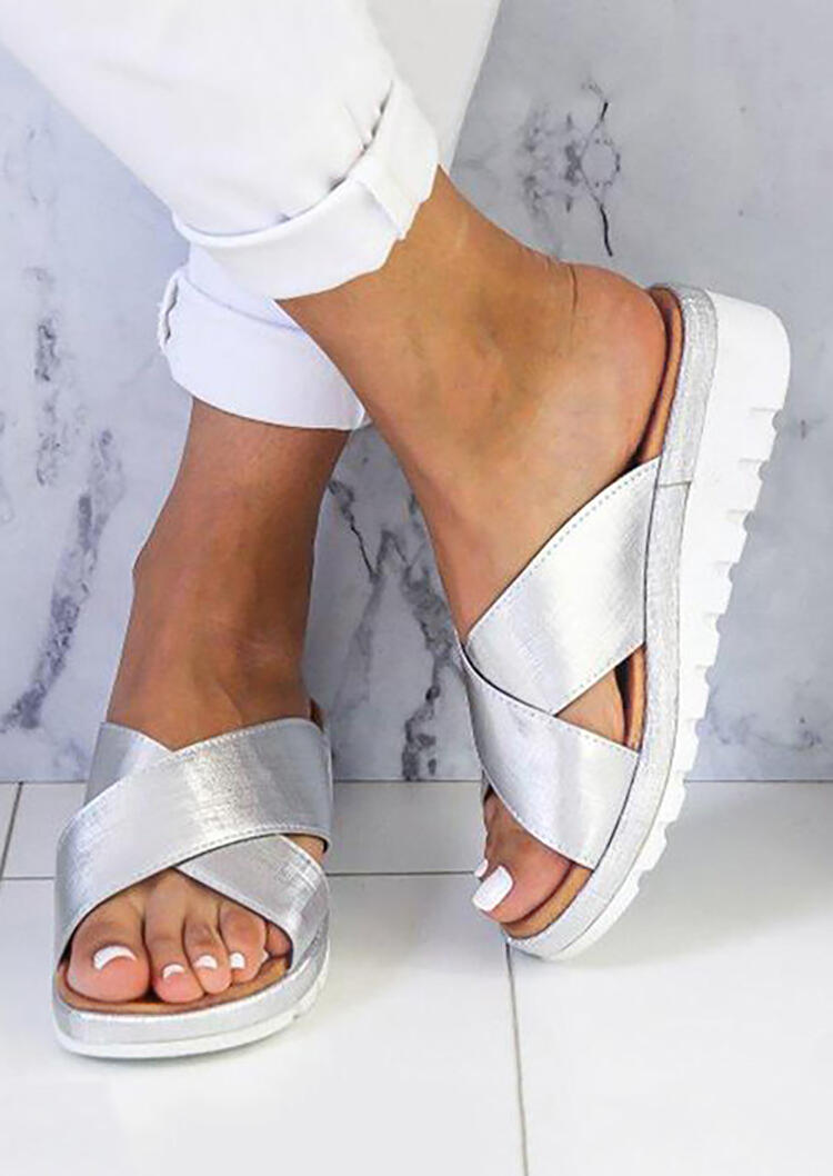 Solid_Criss-Cross_Round_Toe_Sandals_-_Silver