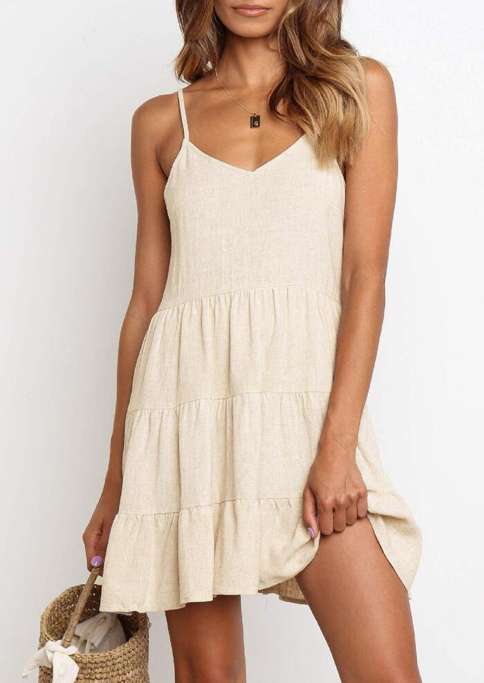 Solid_Ruffled_Spaghetti_Strap_Mini_Dress_without_Necklace_-_Beige