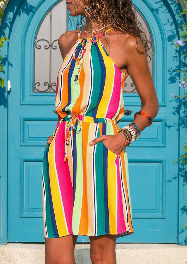 Colorful_Striped_Tie_Mini_Dress_without_Necklace_-_Multicolor