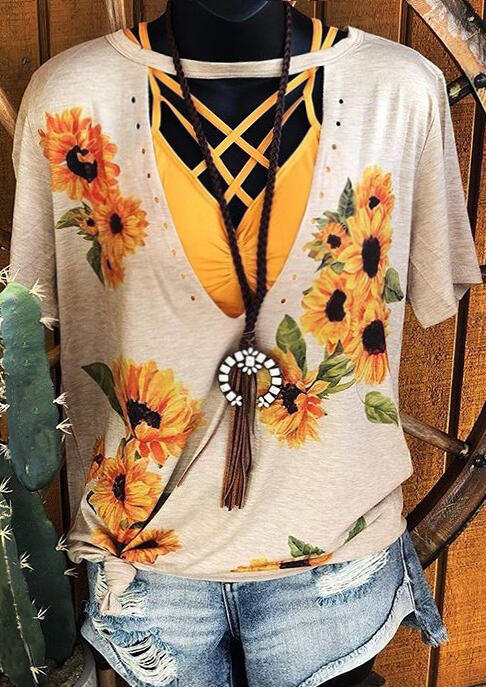 Sunflower_Hollow_Out_Blouse_without_Necklace_-_Beige