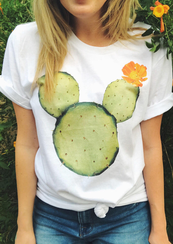 Floral_Mickey_Cactus_T-Shirt_Tee_-_White