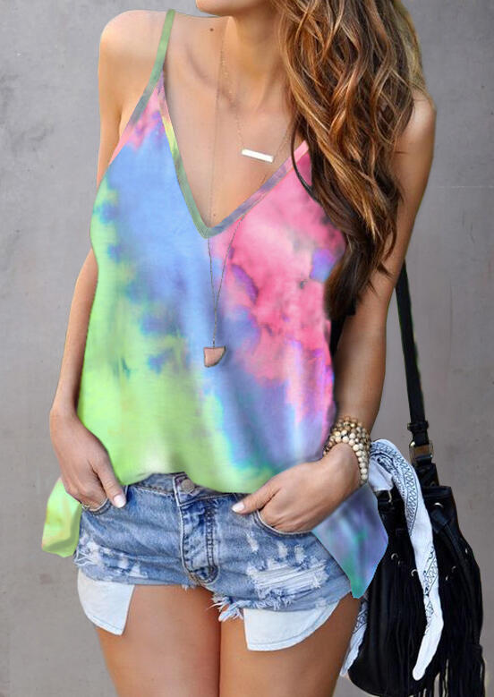 Tie_Dye_Camisole_without_Necklace_-_Multicolor