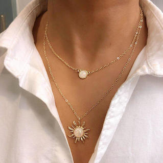 Sunflower Dual-Layered Women's Necklace