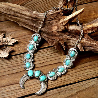 Turquoise Horn Maxi Necklace