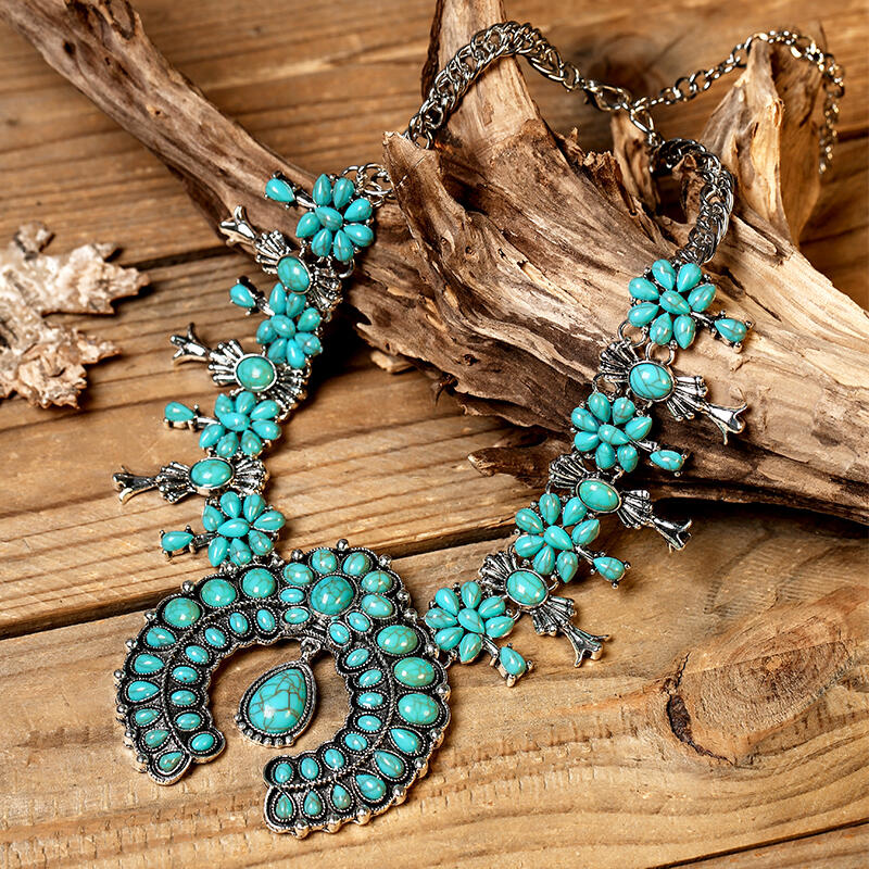 Western Bohemian Turquoise Necklace