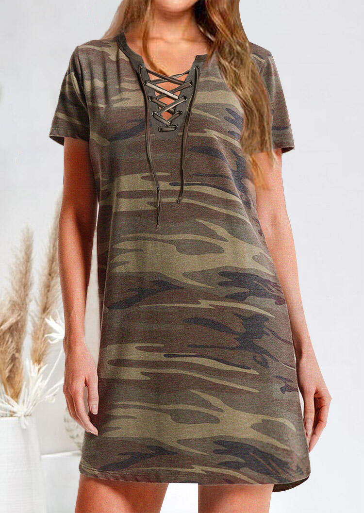 Camouflage_Printed_Lace_Up_Mini_Dress