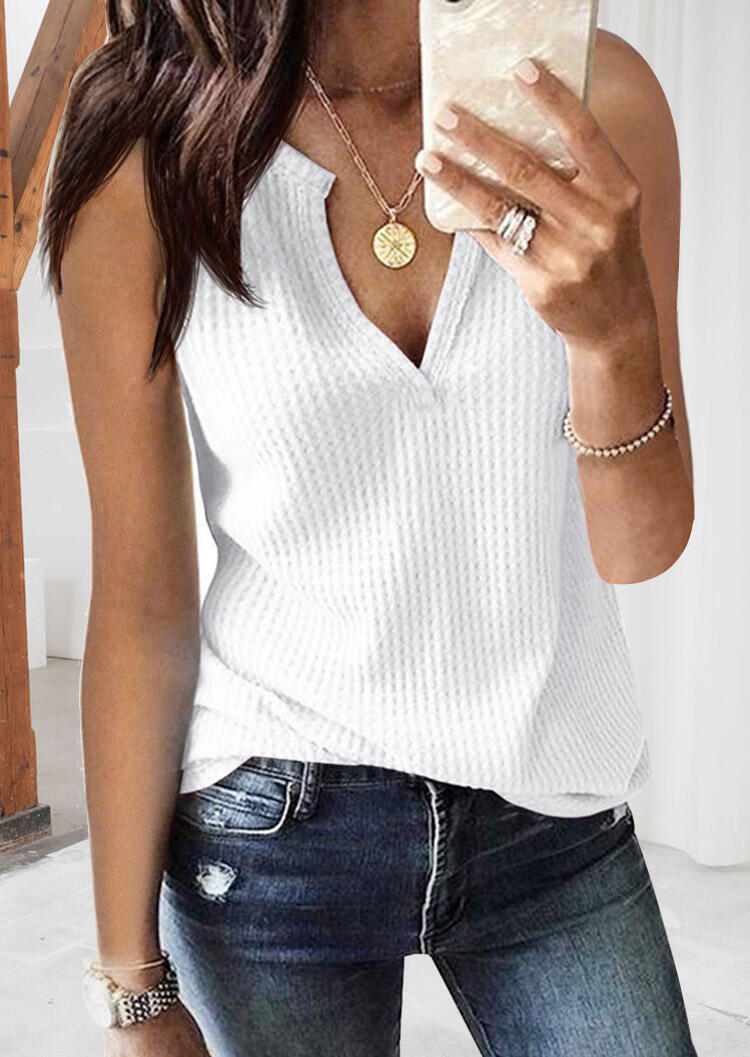 Solid_Knitted_V-Neck_Tank_without_Necklace_-_White