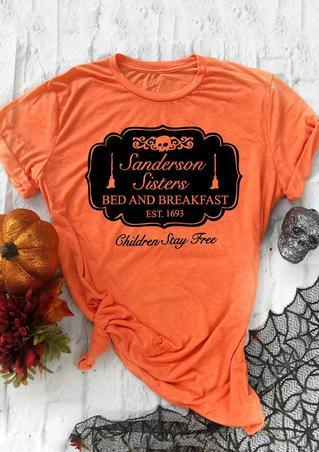 Sanderson Sisters Hocus Pocus T-Shirt Tee - Orange