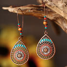 Bohemian Hollow Out Water Drop Vintage Earrings