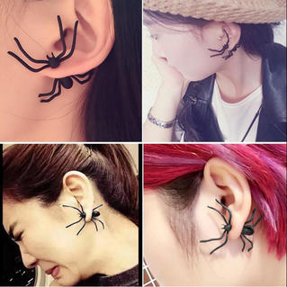 Halloween Creepy Spider Stud Earrings