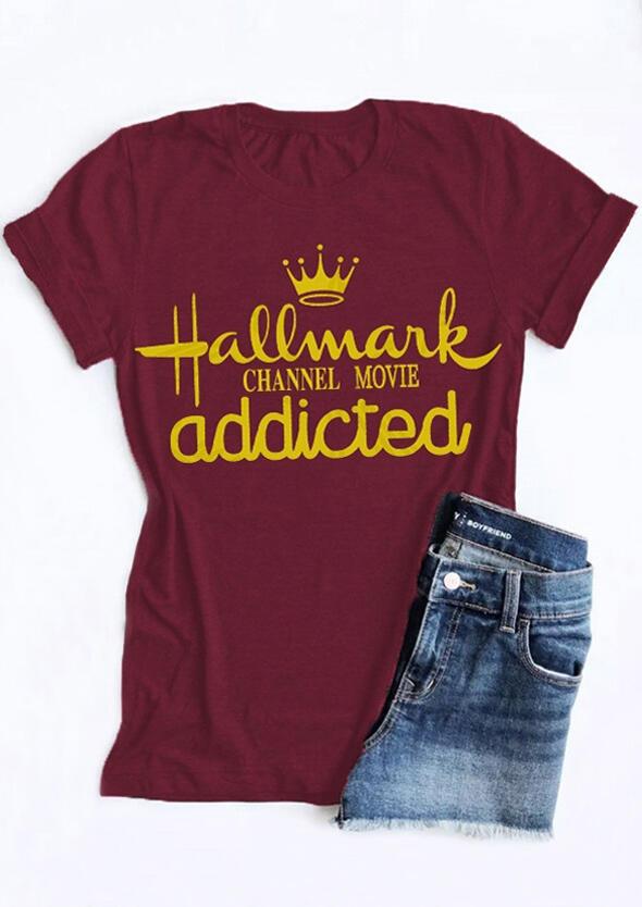 Hallmark Christmas T Shirt.Hallmark Christmas Movie Addicted T Shirt Tee Bellelily