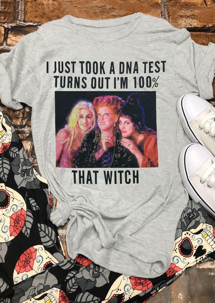 Halloween Hocus Pocus I Just Took A DNA Test T-Shirt Tee - Brick Red