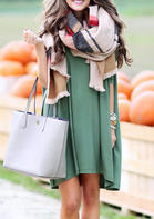 Solid_ONeck_Mini_Dress_without_Scarf__Dark_Green