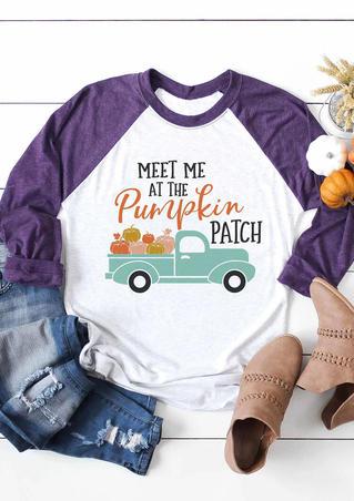 Meet Me At The Pumpkin Patch T-Shirt Tee - White