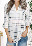 Plaid_Splicing_Long_Sleeve_Shirt__White