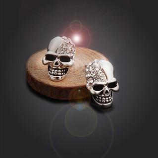 Halloween Rhinestone Skull Stud Earrings
