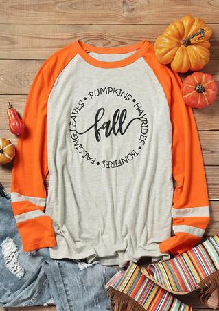 Fall Pumpkins O-Neck T-Shirt Tee - Light Grey