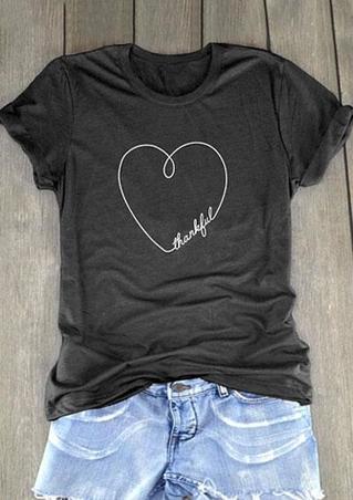 Thankful Heart Short Sleeve T-Shirt