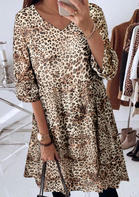 Leopard_Printed_VNeck_Mini_Dress_without_Necklace