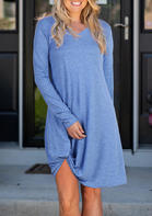 Solid_Twist_Long_Sleeve_VNeck_Mini_Dress__Blue