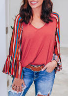 Striped_Flare_Long_Sleeve_Blouse__Watermelon_Red