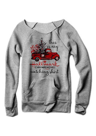 This Is My Hallmark Christmas Movies Watching Sweatshirt - Gray
