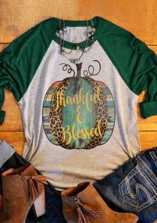 Thankful & Blessed Baseball T-Shirt