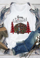 Merry_Christmas_Tree_Leopard_Plaid_Printed_TShirt_Tee__White