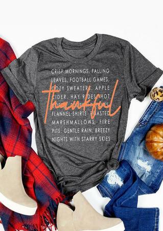 Thankful Football Games T-Shirt Tee - Gray