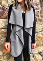 Solid_Sleeveless_Cardigan_without_Necklace__Gray