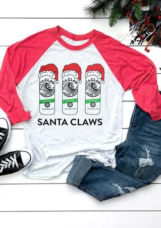 Santa Claws T-Shirt Tee - Light Grey