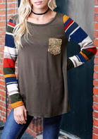 Color_Block_Striped_Sequined_Blouse_without_Choker__Coffee
