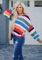 Colorful_Striped_ONeck_Blouse__Multicolor