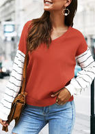 Striped_Drop_Shoulder_TShirt_Tee__Brick_Red