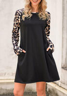 Leopard_Printed_Splicing_Pocket_Mini_Dress__Black