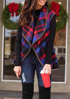 Plaid_Pocket_Sleeveless_Vest_Cardigan