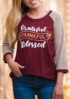 Thankful_Grateful_Blessed_Striped_Printed_TShirt_Tee__Burgundy