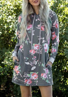 Floral_Drawstring_Pocket_Hooded_Mini_Dress__Gray