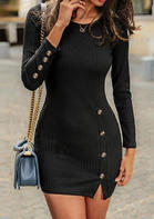 Solid_Button_Bodycon_Dress_without_Necklace__Black
