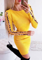 Leopard_Printed_Long_Sleeve_Bodycon_Dress__Yellow