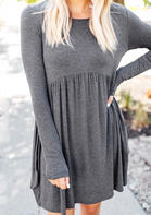 Solid_Ruffled_ONeck_Mini_Dress__Gray