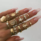 15Pcs_Vintage_Beauty_Head_Coin_Cross_Love_Ring_Set