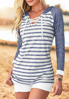 Striped_Splicing_Lace_Up_Hoodie__Blue