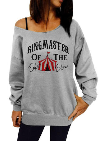 Ringmaster Of The Shit Show Sweatshirt - Gray
