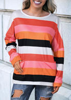 Striped_ONeck_Pocket_Blouse